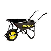 Тачка BudMonster строительная 1-колесная 80 л, грузоподъемность 200 кг черная
