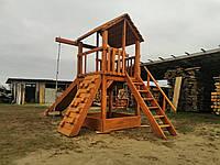 Детская игровая площадка, Детский ДОМИК с горкой и КАЧЕЛЯМИ п44