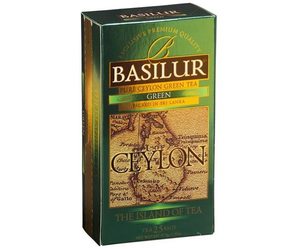 Зеленый чай Basilur Остров в пакетиках 20х1,5 г