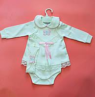 Нарядное боди-платье для малышки рост 56.62.68 см
