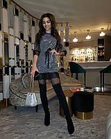 Витончене міні сукня з мереживом