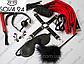 Набор садо-мазо для ролевых БДСМ игр Красно-черный, фото 5