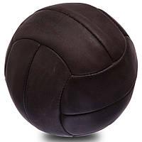 Мяч футбольный VINTAGE Кожа №5, 5сл., 12 панелей, сшит вручную, коричневый (F-0251)