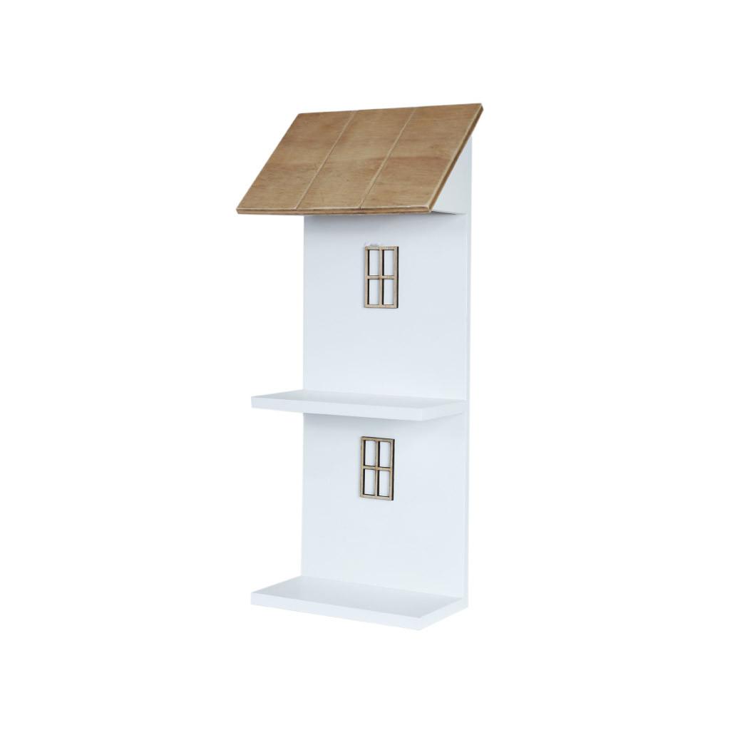 Полка навесная домик двухярусная 39 см 107055