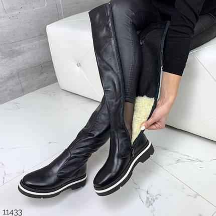 Сапоги зимние женские кожаные, фото 2