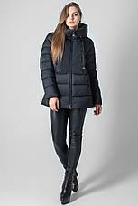 Женский зимний пуховик с капюшоном CLASNA CW19D803CW  черного цвета, фото 2