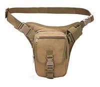Набедренная поясная сумка-кобура TacticBag RVL A9001-песок