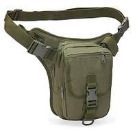 Набедренная поясная сумка-кобура TacticBag RVL A9001-олива