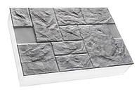 """Термопанели """"Песчаник колотый"""" 600х400, Серый цемент"""