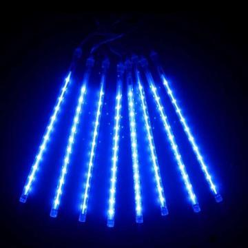 """Новогодняя LED гирлянда """"Тающая сосулька"""" синего свечения двухсторонняя влагозащищенная(8 сосулек 4*0,5м)"""