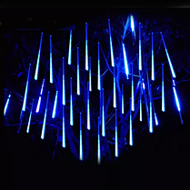 """Новогодняя LED гирлянда """"Тающая сосулька"""" синего свечения двухсторонняя влагозащищенная(8 сосулек 4*0,5м), фото 2"""