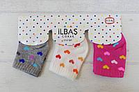 Носки хлопковые для малышей0-3 мес (3 шт. на планшетке, в упаковке 4 планшетки)