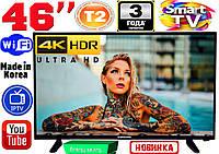 "АКЦИЯ! 4K телевизоры Samsung SmartTV Slim 46"" 3840x2160,LED, IPTV, Android, T2, WIFI, USB, КОРЕЯ"