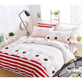 Полуторный комплект постельного белья с компаньоном Котик