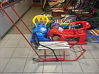 Санки детские с колёсами, разворотные Фиолетовый