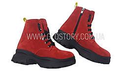 Женские зимние ботинки Haries, замша, мех