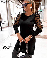 Женское нарядное платье 056 (42/44, 44/46) (цвет черный) СП