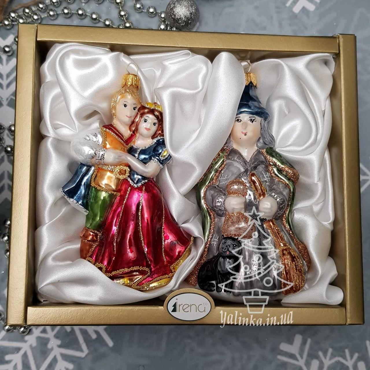 Irena набор Белоснежка и колдунья  Стеклянные игрушки на елку ручной работы