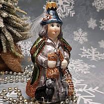Irena набор Белоснежка и колдунья  Стеклянные игрушки на елку ручной работы, фото 3
