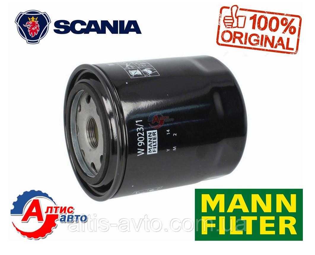 Масляный фильтр на SCANIA  3, 4 P,G,R,T серии 1768402 Mann-Filte для двигателя W9023/1