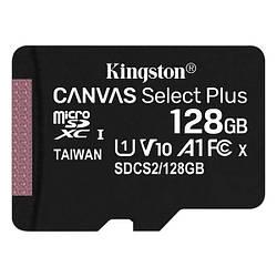 Картка пам'яті MicroSDXC 128Gb Kingston class 10 Canvas Select Plus SDCS2/128GBSP
