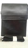 Мужская сумка планшетка Polo черная 28х22 см черная (B3385-3)