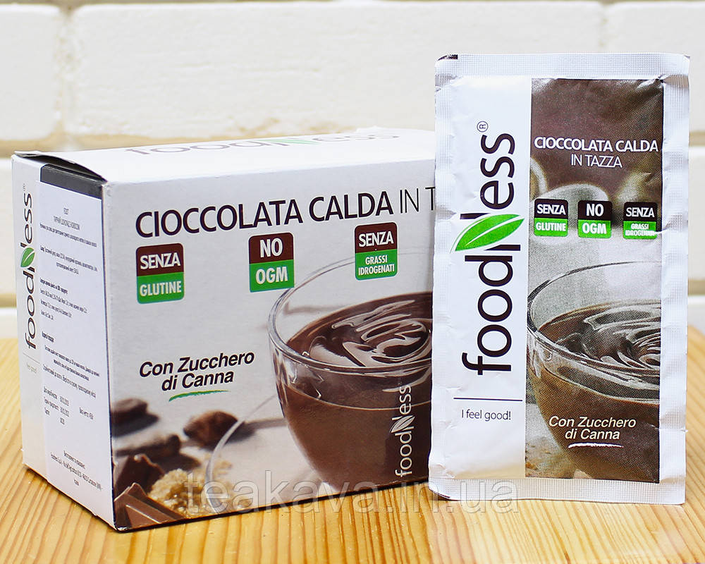 """Горячий шоколад без глютена """"Джандуя"""" Foodness (30г*15шт), 450 грамм (Италия)"""