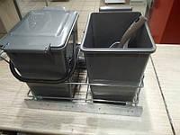 Ведро мусорное сортер на направляющих 2x10 л