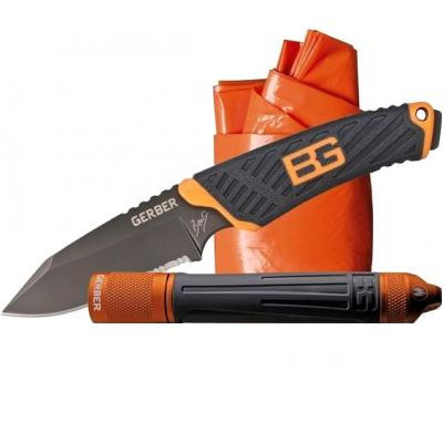 Набор выживания Gerber Bear Grylls нож+пончо+фонарь