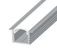 Алюминиевый профиль для светодиодной ленты ЛПВ12 + рассеиватель(прозрачный)