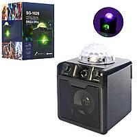 Колонка со светомузыкой диско-шар SG-1626 (флешки, bluetooth, MP3, TF, USB (7 цветов) UFO Crystal Magic Ball