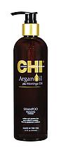 CHI Argan Oil Shampoo NEW Відновлюючий шампунь з маслом аргана, моринги, натур.шовк, 340мл