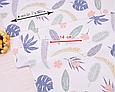 Сатин (бавовняна тканина) пальмові Листя різні, фото 2