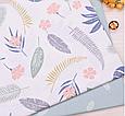 Сатин (бавовняна тканина) пальмові Листя різні, фото 3