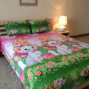 """Полуторный комплект постельного белья """"Кошка милая"""""""