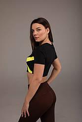 Спортивный Женский Топик Nova Vega Black&Yellow