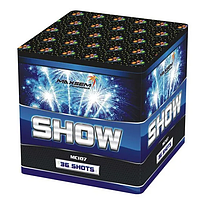 Батарея салютов SHOW Шоу (MC 107) - 36 выстрелов, 4 эффекта, 20 мм