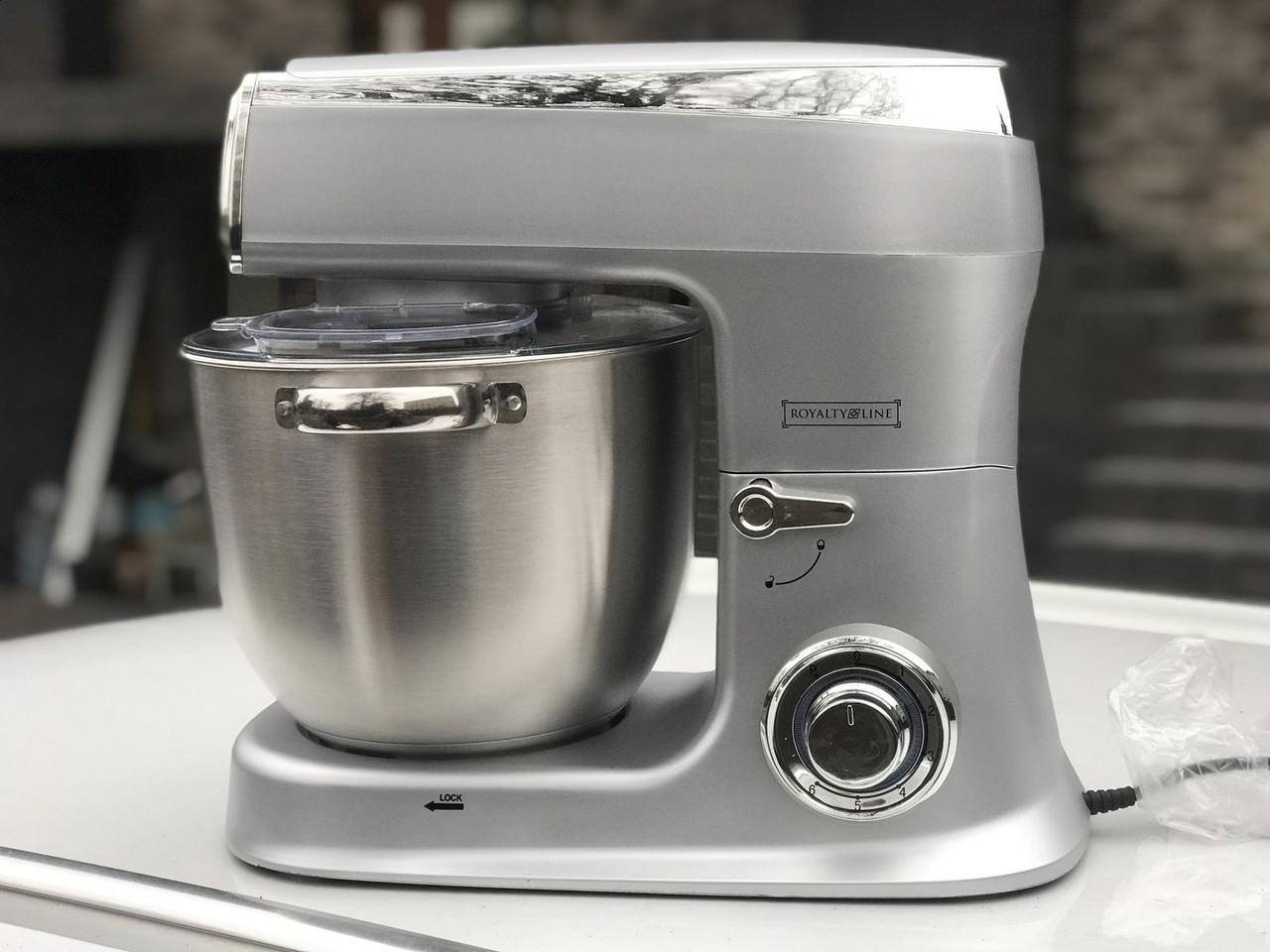 Кухонный комбайн тестомес Royalty Line RL-PKM-2100-SVR 2100 Вт Серый