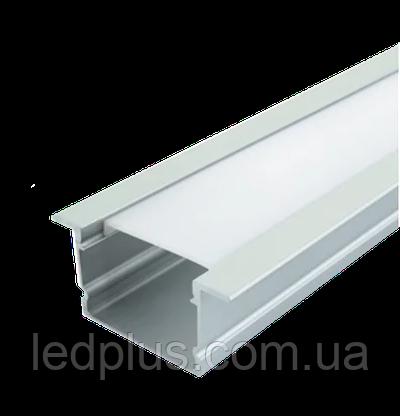 Алюминиевый профиль для светодиодной ленты ЛПВ20 + рассеиватель(прозрачный)