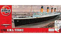 Сборная модель R.M.S. Titanic в масштабе 1:700. Подарочный набор с красками, кисточками и клеем. AIRFIX 50164