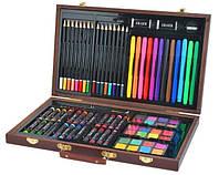 Набір для малювання 81 елементів, набір для творчості,живопису, набір для художників, валіза для малювання