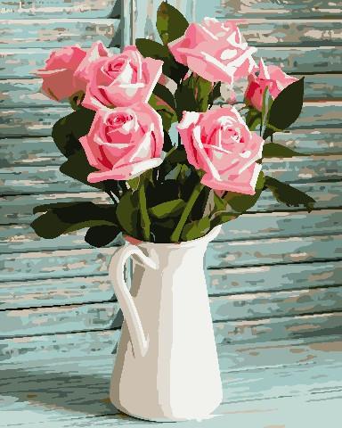 Живопись по номерам Розы в кувшине ArtStory AS0686 40 х 50 см