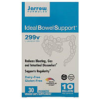 """Комплекс пробиотиков Jarrow Formulas """"Ideal Bowel Support"""" уменьшает вздутие живота, 299v (30 капсул)"""