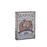 Шкатулка фолиант Seafood M 107737-2