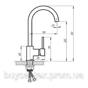 Смеситель для кухни Q-tap Form CRM 007F, фото 2