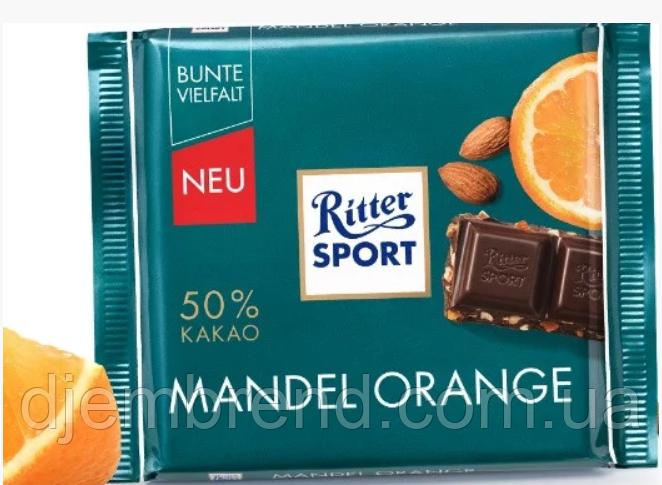 Молочный шоколад Ritter Sport Mandel Orange , 100 гр