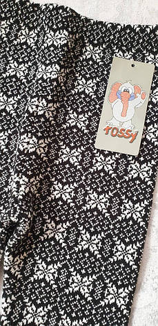 Лосины шерстяные вязанные Tossy kids на девочек Снежинки, фото 2