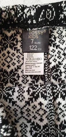 Лосины шерстяные вязанные Tossy kids на девочек Снежинки, фото 3