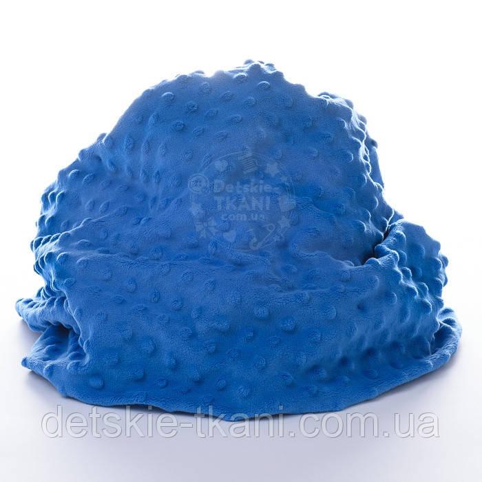 Плюш minky светло-синего цвета М-79