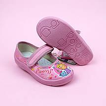 Детские текстильные туфли тапочки Алина розовый Princess размер 27 тм Waldi, фото 3